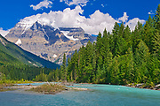Mt. Robson and the Robson River, Mt. Robson Provincial Park, British Columbia, Canada