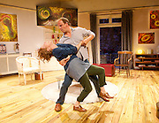 Invincible<br /> by Torben Betts <br /> directed by Ellie Jones<br /> ar St. James Theatre, London, Great Britain <br /> press photocall<br /> 14th July 2014 <br /> <br /> Daniel Copeland as Alan <br /> <br /> Laura Howard as Emily <br /> <br /> Samantha Seager as Dawn<br /> <br /> Darren Strange as Oliver <br /> <br /> Photograph by Elliott Franks