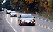 The pre-production Chevrolet Volt engineering test drive departs the Milford Proving Ground in Milford, Michigan Tuesday, October 13, 2009.