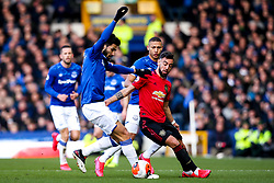 Bruno Fernandes of Manchester United takes on Andre Gomes of Everton - Mandatory by-line: Robbie Stephenson/JMP - 01/03/2020 - FOOTBALL - Goodison Park - Liverpool, England - Everton v Manchester United - Premier League