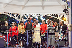 Bethel Baptist Church Choir sing Joy to the World.  Emanicpation Garden Christmas Card, Inc. presents the 39th Annual Challenge of Carols.  Emancipation Garden.  St. Thomas, USVI.  25 December 2015.  © Aisha-Zakiya Boyd