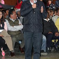 Villa Victoria, Mexico.-Heriberto Ortega, Secretario de Desarrollo Agropecuario del Edomex, durante el evento de erradicación del trabajo infantil. Agencia MVT / Beatriz Rodriguez.
