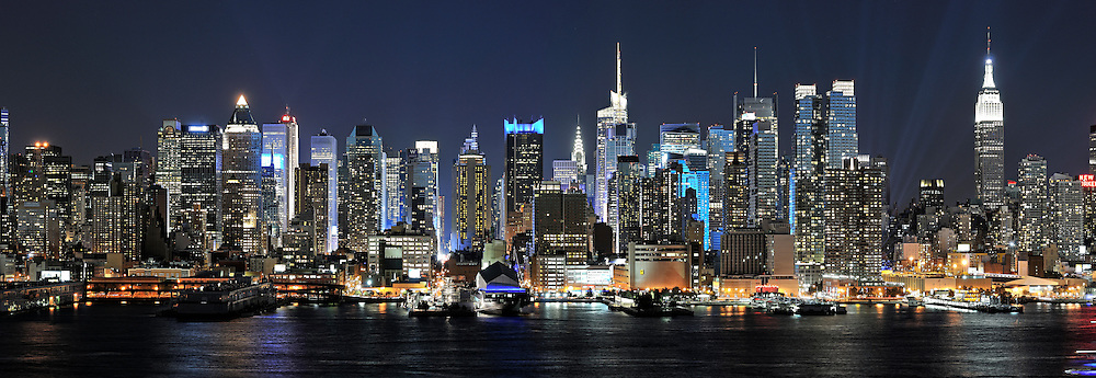 View of the spectacular Manhattan Skyline.