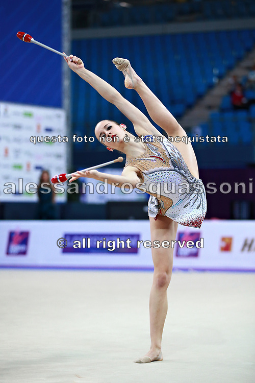 Eleni Kelaiditi was born on April 1, 2000 in Cholargos, Greece. It is a very elegant individual Greek rhythmic gymnast.