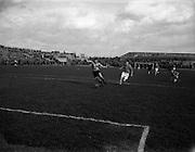 08/03/1958<br /> 03/08/1958<br /> 08 March 1958<br /> Soccer: Evergreen v St Patrick's Athletic at Dalymount Park, Dublin.