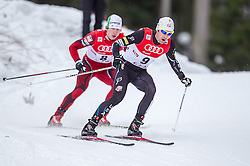 18.01.2014, Casino Arena, Seefeld, AUT, FIS Weltcup Nordische Kombination, Seefeld Triple, Langlauf, im Bild Bryan Fletcher (USA) // Bryan Fletcher (USA) during Cross Country at FIS Nordic Combined World Cup Triple at the Casino Arena in Seefeld, Austria on 2014/01/18. EXPA Pictures © 2014, PhotoCredit: EXPA/ JFK