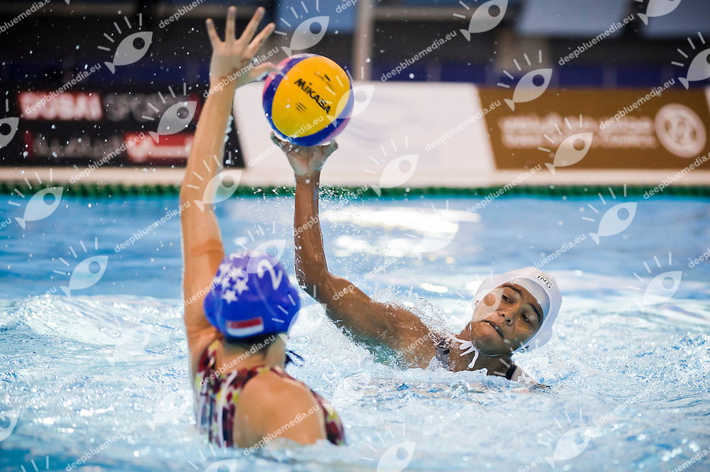 IND vs SIN.Waterpolo women's tournament.25/11/2012.9th Asian Swimming Championships.Dubai - U.A.E.  Nov.15th - 25th 2012.Day 11.Photo Giorgio Perottino/Deepbluemedia/Insidephoto