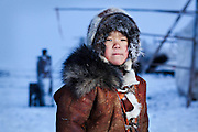 EXCLUSIVE<br /> Arctic Nomads From Remote Russia Photographed For The First Time<br /> <br /> Braving temperatures of -45f to visit a place that is literally located at the end of the earth, Sasha Leahovcenco photographed people who have never had their picture taken before.Trudging through snow drifts and blizzards, across the deep tundra of the northern Russian region of Chukotka, Leahovcenco traveled to meet a small nomadic tribe of reindeer herders - disconnected from the modern world where the way of life has barely changed for thousands of years.Bringing along a digital printer to the region where it the record high is barely above 90f, Leahovcenco photographed the men, women and children of the hardy native people there - and then to their delight showed them pictures of themselves for the first time in their lives.<br /> ©Sasha Leahovcenco/Exclusivepix