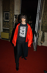 BOBBY GILESPIE at the 2006 Moet & Chandon Fashion Tribute in honour of photographer Nick Knight, held at Strawberry Hill House, Twickenham, Middlesex on 24th October 2006.<br />