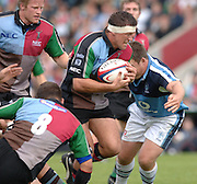 2005_06 National Division One, NEC Harlequins vs Newbury, Quiins capt. Andre Vos, breaking through the mid field. Twickenham Stoop: 17.09.2005   © Peter Spurrier/Intersport Images - email images@intersport-images..