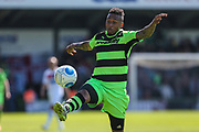 Forest Green Rovers Keanu Marsh-Brown(7) controls the ball during the Vanarama National League Play Off second leg match between Forest Green Rovers and Dagenham and Redbridge at the New Lawn, Forest Green, United Kingdom on 7 May 2017. Photo by Shane Healey.