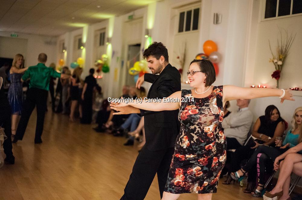 Ballroom and Latin dance party with guest performances by Lemington Ridley and Nejc Jus, Viktoriya Wilton and Nuno Filipe Pessoa Sabroso, Elena Plesenco at the Southside Ballroom in Wandsworth, London. September 2014