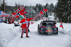 February 15, 2018 - Suede - Elfyn Evans (GBR) -  Daniel Barritt (GBR) - Ford Fiesta WRC (Credit Image: © Panoramic via ZUMA Press)
