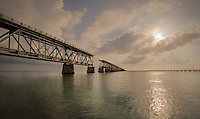 View of the Bahia Honda bridge in the Florida Keys.