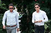 Jack Tweed (L) and brother Lewis (R) arrives at Redbridge Magistrates court in Essex on August 03rd 2011..Jade Goody's widower, 23, appears charged with threatening and abusive behaviour, in relation to an alleged incident outside Deuces Bar and Lounge, in Chigwell, Essex, on January 3. Appearing alongside are Tweed's younger brother Lewis, 20, and friend Mark Wright, 24, who appeared on reality TV show The Only Way Is Essex...