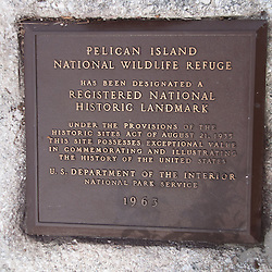 National Historic Landmark Sign, Pelican Island National Wildlife Refuge, Vero Beach, Florida, US