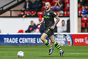 Forest Green Rovers Carl Winchester(7) on the ball during the EFL Sky Bet League 2 match between Walsall and Forest Green Rovers at the Banks's Stadium, Walsall, England on 10 August 2019.