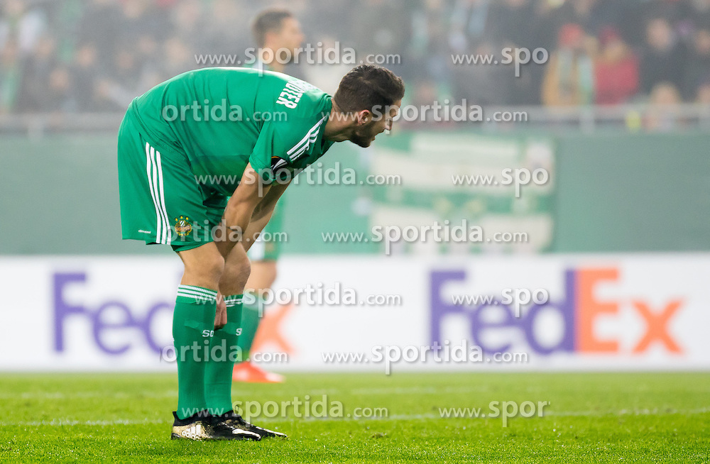 20.10.2016, Weststadion, Wien, AUT, UEFA EL, SK Rapid Wien vs US Sassuolo Calcio, Gruppe F, im Bild Christoph Schoesswendter (SK Rapid Wien) // during a UEFA Europa League, group F game between SK Rapid Wien and US Sassuolo Calcio at the Weststadion, Vienna, Austria on 2016/10/20. EXPA Pictures © 2016, PhotoCredit: EXPA/ Sebastian Pucher