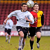 Partick Thistle V Raith Rovers.Laurie Ellis and Ricky Gillies.