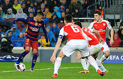 Neymar of Barcelona show boats - Mandatory byline: Matt McNulty/JMP - 16/03/2016 - FOOTBALL - Nou Camp - Barcelona,  - FC Barcelona v Arsenal - Champions League - Round of 16