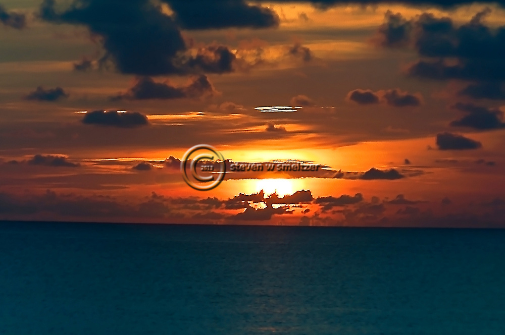 Clouds at Sunset Grand Cayman from Seven Mile Beach