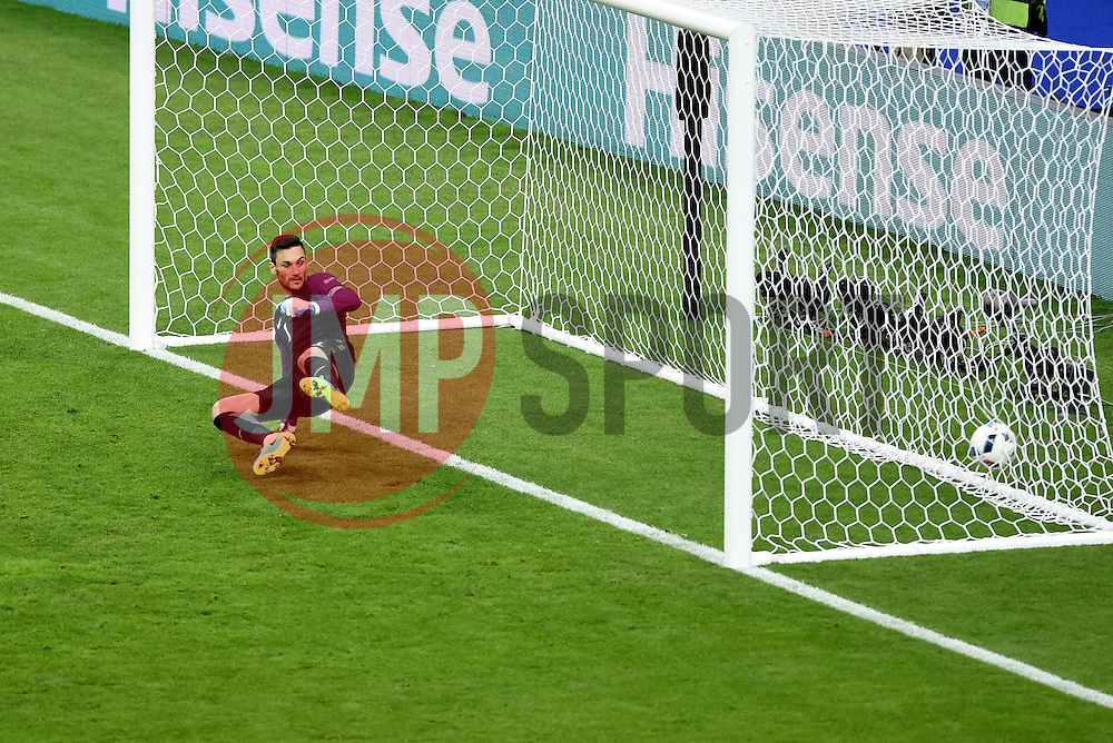 Hugo Lloris of France watches as Bogdan Stancu's of Romania penalty goes past him  - Mandatory by-line: Joe Meredith/JMP - 10/06/2016 - FOOTBALL - Stade de France - Paris, France - France v Romania - UEFA European Championship Group A