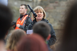 Stop the Cuts, Student Demonstration, outside The Scottish Parliament, Hollyrood, Edinburgh, Speakers: Mary Senior UCU (University &amp; College Union) 23rd March 2016<br /> (c) Brian Anderson | Edinburgh Elite media