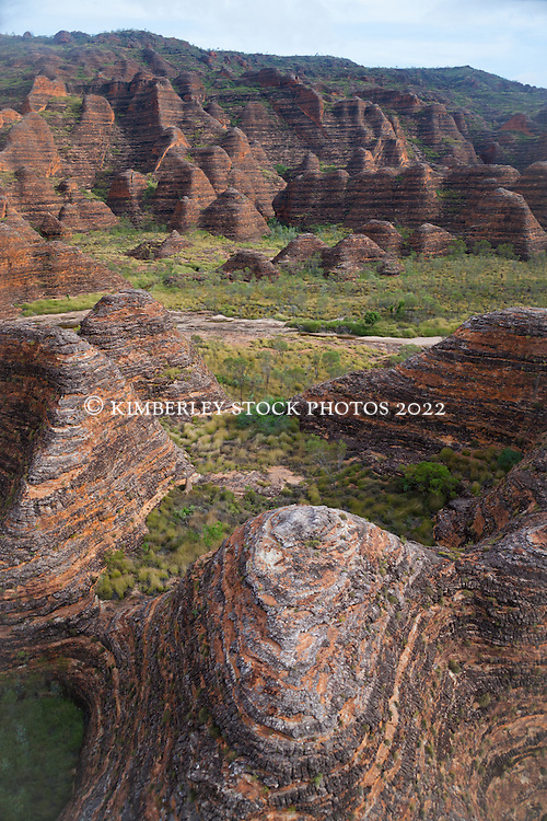 Aerial view of the Bungle Bungles in the east Kimberley region of WA