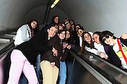 ROMA 27.03.2010<br /> PROGETTO COLLEGE ITALIA <br /> NELLA FOTO: LE ATLETE DEL TEAM COLLEGE ITALIA NELLA METRO DI ROMA DURANTE UN MOMENTO DI RELAX