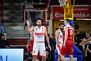 Tyler Cain<br /> Openjobmetis Varese - A X Armani Exchange Milano<br /> Openjobmetis Varese - <br /> Basket Serie A LBA 2018/2019<br /> Varese 13 April 2019<br /> Foto Mattia Ozbot / Ciamillo-Castoria