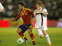 Spain's Montoya (l) and Norway's Svensson during international sub21 match.March 21,2013. (ALTERPHOTOS/Acero)