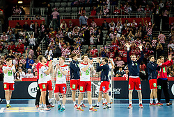 Players of Norway after the handball match between National teams of Sweden and Norway on Day 7 in Main Round of Men's EHF EURO 2018, on January 24, 2018 in Arena Zagreb, Zagreb, Croatia.  Photo by Vid Ponikvar / Sportida