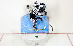 April 22, 2010; San Jose, CA, USA; Colorado Avalanche goaltender Craig Anderson (41) looks back at the net after a San Jose Sharks goal during the second period of game five in the first round of the 2010 Stanley Cup Playoffs at HP Pavilion. The Sharks defeated the Avalanche 5-0. Mandatory Credit: Jason O. Watson / US PRESSWIRE