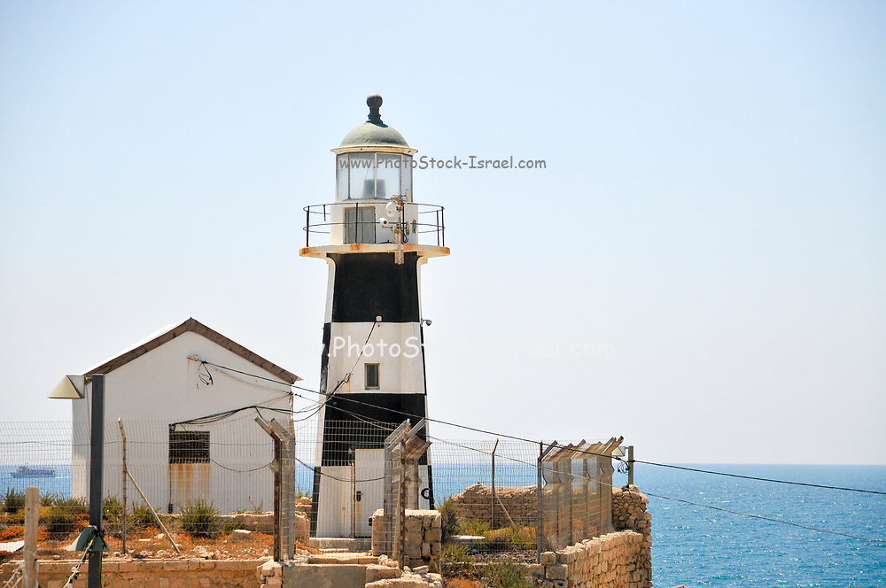 Israel, western Galilee, Acre, The lighthouse at the entrance to the ancient harbour