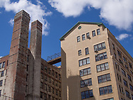 Old factory building on Washington st. at Bank street in the meat packing district of Manhattan.