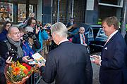 Staatsbezoek aan Nederland van Zijne Majesteit Koning Filip der Belgen vergezeld door Hare Majesteit Koningin <br /> Mathilde aan Nederland.<br /> <br /> State Visit to the Netherlands of His Majesty King of the Belgians Filip accompanied by Her Majesty Queen<br /> Mathilde Netherlands<br /> <br /> op de foto / On the photo: Koning Willem Alexander en Belgische koning Filip  ////  King Willem Alexander and Belgian King Philip