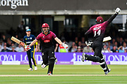 Somerset Win - James Hildreth of Somerset celebrates scoring the winning runs to win the Royal London 1 Day Cup Final match between Somerset County Cricket Club and Hampshire County Cricket Club at Lord's Cricket Ground, St John's Wood, United Kingdom on 25 May 2019.