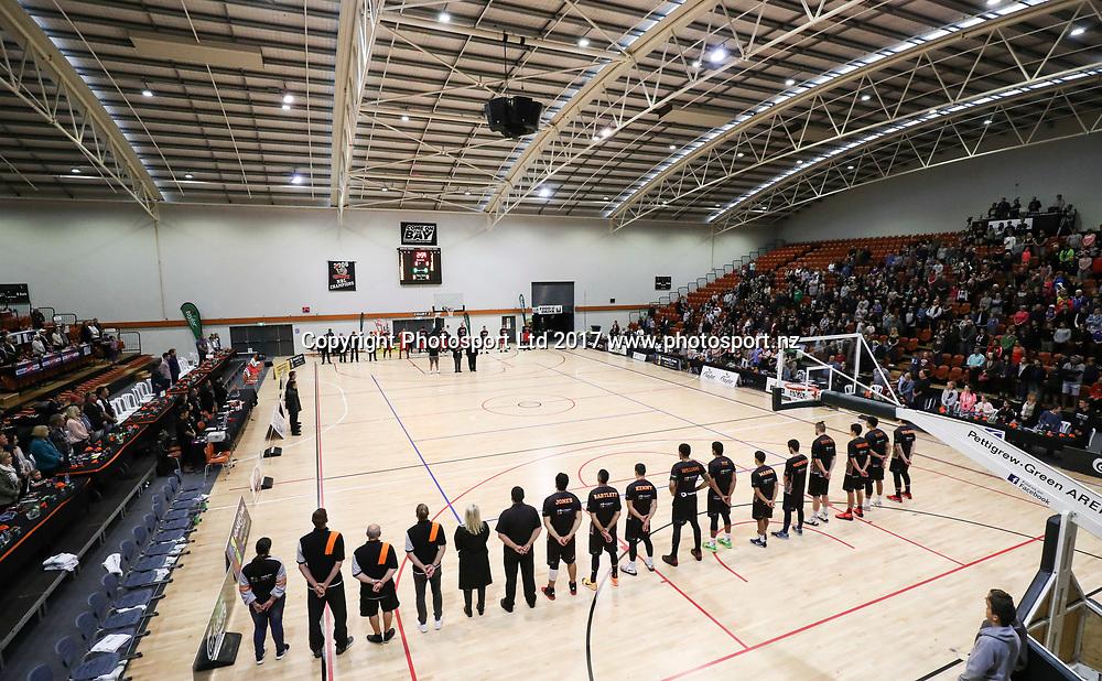 Hawks v Rams, NBL Basketball, PG Arena, Napier, New Zealand. Tuesday, 25 April 2017. Copyright photo: John Cowpland / www.photosport.nz
