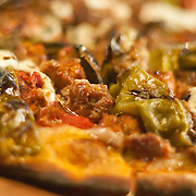 12/17/10 Wilmington DE: Paul and Young Ron Pizza served with Meatballs, Sausage, Hot or sweet peppers & Ricotta chesse served at Anthony's Coal Fired Pizzas in Wilmington Delaware...Special to The News Journal/SAQUAN STIMPSON