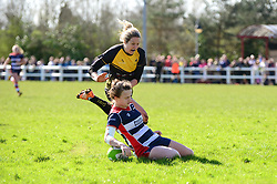 Cat McNaney of Bristol Ladies scores a try - Mandatory by-line: Dougie Allward/JMP - 26/03/2017 - RUGBY - Cleve RFC - Bristol, England - Bristol Ladies v Wasps Ladies - RFU Women's Premiership