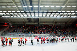 Players after the Ice hockey match between HDD SIJ Acroni Jesenice and HDD Telemach Olimpija in Main Round of Slovenian National Championship 2014/15, on October 28, 2014 in Arena Podmezakla, Jesenice, Slovenia. Photo by Vid Ponikvar / Sportida