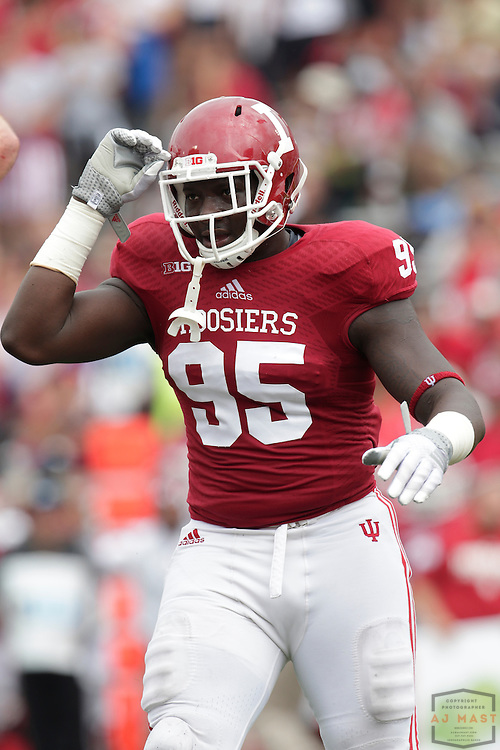 Indiana Hoosiers defensive tackle Bobby Richardson (95) as the Indiana Hoosiers played the Indiana State Sycamores in a college football game in Bloomington, IN.