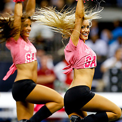 October 7, 2012; New Orleans, LA, USA; New Orleans Saints Saintssations dancers perform during at the end of the third quarter of a game against the San Diego Chargers  at the Mercedes-Benz Superdome. The Saints defeated the Chargers 31-24. Mandatory Credit: Derick E. Hingle-US PRESSWIRE