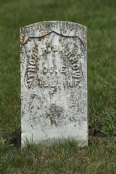 Freemont Cemetery in McLean County, east of McLean.<br /> <br /> Thos R Darrow  7 ILL INF Co E
