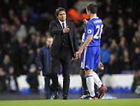 Football - 2016 / 2017 Premier League - Tottenham Hotspur vs. Chelsea<br /> <br /> Chelsea Manager Antonio Conte consoles Cesar Azpilicueta after the final whistle at White Hart Lane.<br /> <br /> COLORSPORT/ANDREW COWIE