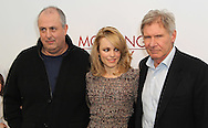 "PARIS - JANUARY 14:   Roger Michell, Rachel Mc Adams and Harrison Ford attend ""Morning Glory"" Photocall at Hotel Meurice on January 14, 2011 in Paris, France.  (Photo by Tony Barson/FilmMagic)"