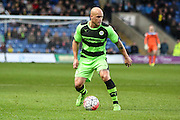 Forest Green's David Pipe on the ball during the The FA Cup match between Oxford United and Forest Green Rovers at the Kassam Stadium, Oxford, England on 6 December 2015. Photo by Shane Healey.
