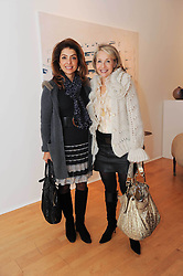 Left to right, CAROL SOPHER and JOLANA VAINIO at a pre lunch reception to celebrate the launch of the new Louisa Guinness gallery at Ben Brown Fine Art, Cork Street, London on 18th November 2009.