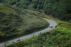 © Licensed to London News Pictures. <br /> 10/09/2017 <br /> Saltburn by the Sea, UK.  <br /> <br /> A vintage motor car drives up the hill during the annual Saltburn by the Sea Historic Gathering and Hill Climb event. Organised by Middlesbrough and District Motor Club the event brings together owners of a wide range of classic cars and motorcycles dating from the early 1900's to 1975. Participants take part in a hill climb to test their machines up a steep hill near the town. Once held as a competitive gathering a change in road regulations forced the hill climb to become a non-competitive event.<br /> <br /> Photo credit: Ian Forsyth/LNP