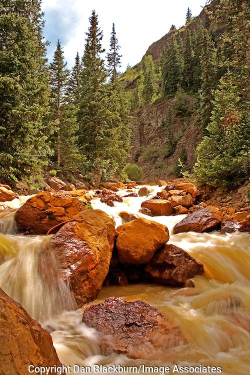 Red Mountain Creek Flows Rapidly Through San Juan Mountains Colorado